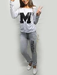 Sweat à capuche Pantalon Costumes Femme,Citations & Dictons Sports Vacances Sortie Décontracté / Quotidien simple Chic de RueAutomne