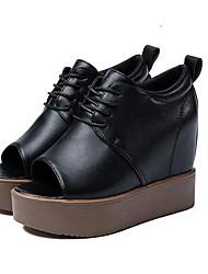 Women's Boots Comfort PU Winter Casual Comfort Gray Black 2in-2 3/4in