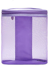 Women Cosmetic Bag Nylon All Seasons Casual Outdoor Rectangle Zipper Purple Gray Blue