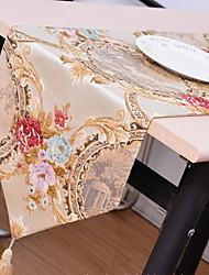 European Classical High-grade Gold Jacquard Cotton And Linen Table Flag 32*210cm