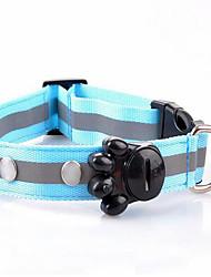 Collari collare Portatile Sicurezza Regolabile Luce LED A pois Tessuto