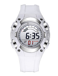 Kid's Sport Watch Digital Water Resistant / Water Proof Rubber Band White Green Navy