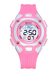 Kid's Sport Watch Fashion Watch Quartz Water Resistant / Water Proof Rubber Band Blue Pink Purple