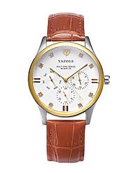 Муж. Нарядные часы Модные часы Кварцевый Кожа Группа Повседневная Коричневый Хаки
