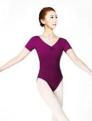 Danza classica Body Per donna Addestramento Cotone Elastene Di pizzo 1 pezzo Maniche corte Alto Calzamaglia