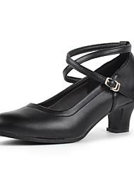 "Women's Modern Cowhide Heels Indoor Splicing Customized Heel Ruby Black 2"" - 2 3/4"" Customizable"