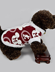 Dog Vest Dog Clothes Casual/Daily New Year's Letter & Number