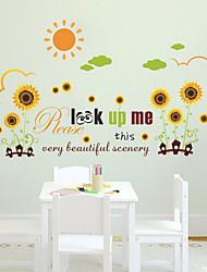 ботанический Цветочные мотивы/ботанический Романтика Наклейки Простые наклейки Декоративные наклейки на стены материал Украшение дома