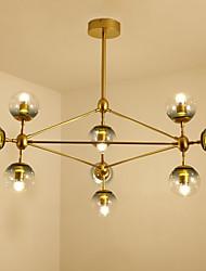 Dix titres post modern europe style modo métal lampe suspension en verre pour la chambre / salon / foyer décorer lampe à lustre industriel