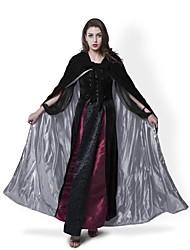 Medieval Black Cloak Lined Silver Satin Halloween Robe Renaissance Wedding Velvet Cape Cosplay Cape Wicca SCA LOTR LARP Goth
