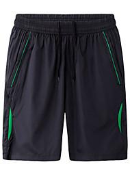 Per uomo Pantaloncini da corsa Casual Pantaloncini /Cosciali per Corsa Esercizi di fitness Tessuto sintetico Largo Giallo Verde S XXL XXXL