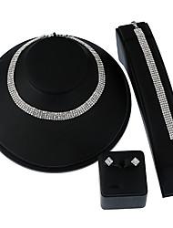 Жен. Ожерелья с подвесками Ожерелье / серьги Свадебные комплекты ювелирных изделийГеометрический По заказу покупателя Multi-Wear способы
