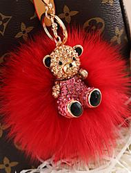 Сумка / телефон / брелок чары медведь мультфильм игрушка мех шарик лиса мех металл