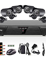 8ch full 960h dvr et 4pcs en plein air 800tvl night night camera
