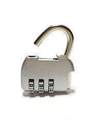 Zinc Alloy Aluminum Padlock Padlock 3 Digit Password Travel Bag Lock Metal Button Password Lock Mini Mini Lock Dail Lock Password Lock
