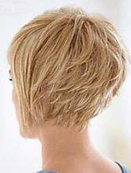 Looks Natural Grace Oblique Fringe Short Hair Human Hair Wigs