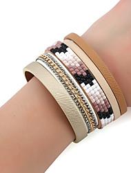 Femme Chaînes & Bracelets Bracelets Bracelets en cuir Strass Mode Bohême Turc Alliage de métal Strass Bijoux PourQuotidien Rendez-vous