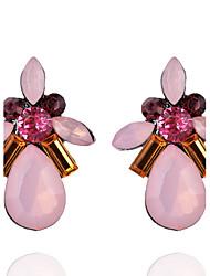 Mujer Chica Pendientes cortos Pendientes colgantes La imitación de diamante CristalDiseño Básico Diseño Único Diamantes Sintéticos