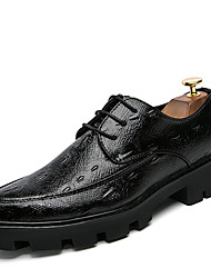 Masculino sapatos Couro de Porco Primavera Verão Outono Inverno Sapatos formais Oxfords Caminhada Franja(s) Para Casamento Festas & Noite