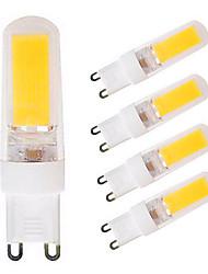 4W Luci LED Bi-pin T 1 COB 300-350 lm Bianco caldo Bianco AC110 V 5 pezzi