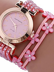 Жен. Часы-браслет Цифровой Металл Группа Черный Белый Синий Красный Коричневый Розовый Хаки