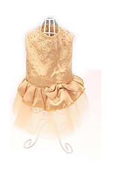 Chien Robe Vêtements pour Chien Soirée Décontracté / Quotidien Uni Or Rose