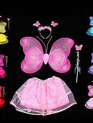 Double Gold Butterfly Wings Covered 4 Times Skirt  Wing  Tire  Fairy Wand Color Random