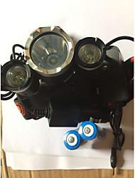 Iluminação Lanternas de Cabeça Luzes de Bicicleta LED 5000 Lumens 4.0 Modo Cree XM-L T6 18650.0Prova-de-Água Recarregável Resistente ao