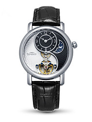Men's Fashion Watch Mechanical Watch Automatic self-winding Genuine Leather Band Black