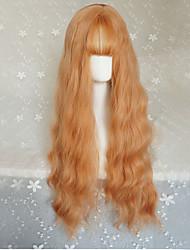 Sweet Lolita Long Curly Orange Lolita Wig