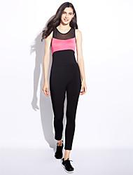 Femme simple Sexy Taille Normale Sports Combinaison-pantalon,Slim Couleur unie Toutes les Saisons