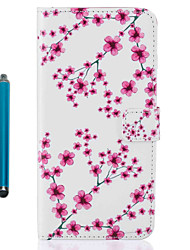 For Apple iPhone 7 Plus 7 6s Plus 6s 5 5s se Case Cover Card Holder Wallet with Stand Flip Pattern Full Body Case With Stylus Flower PU Leather