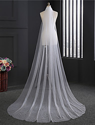 Wedding Veil One-tier Chapel Veils Cut Edge Tulle
