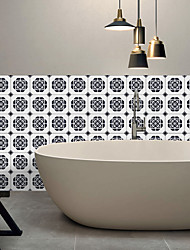 Roundness Pattern Tile Wall Stickers Sitting Room Bedroom Adhesive Waterproof PVC Film