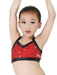 MiDee Performance Tops Women's / Children's Performance Spandex / Sequins 1 Piece Gold / Pink Modern Dance