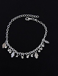 Women's Girls' Anklet/Bracelet Alloy Fashion Vintage Bohemian Punk Hip-Hop Rock Handmade Jewelry For Wedding Party New Baby Training