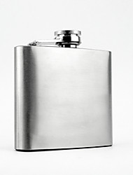 The Stainless Steel  6-oz   Flask  Hip Flask