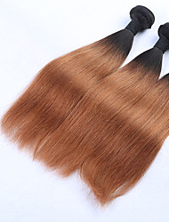 Beata Hair Straight Ombre Brazilian Human Hair Bundles 10-24 inches 1b 30 Two Tone Blonde Weave Bundles Non Remy Thick Weft 3Pcs