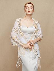 Women's Wrap Shawls Cotton Blend Wedding Party/ Evening Sequined Tassel(s)