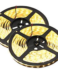 80W Tiras LED Flexibles 7650-7750 lm DC12 V 10 m 300 leds Blanco cálido Blanco