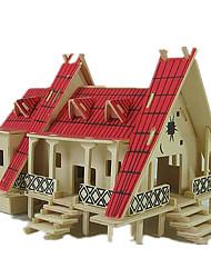 Puzzles Kit de Bricolage Puzzles 3D Blocs de Construction Jouets DIY  Maison Bois