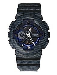 SANDA Муж. Спортивные часы электронные часы Японский Кварцевый Цифровой Защита от влаги С двумя часовыми поясами тревога Pезина Группа