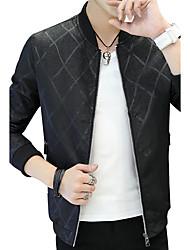 Veste Homme,Couleur Pleine ModeAutre Quotidien Décontracté Vêtements de Plein Air Plein Air Décontracté / Quotidien Soirée Grandes