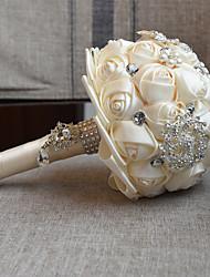 Свадебные цветы Букеты Свадебное белье Бусины Кружево Около 18 см