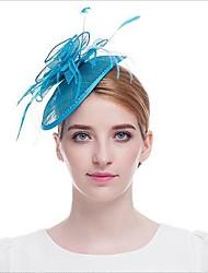 Hand-Feathered Linen Hat/Bridal Hat/European Noblewoman Hat Headdress