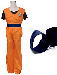 Costumes Cosplay Cosplay Hauts / Bas Plus d'accessoires Inspiré par Dragon Ball Son Goku Manga Accessoires de CosplayHaut Pantalon