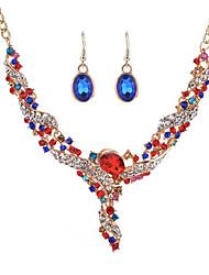 Жен. Свадебные комплекты ювелирных изделий Бриллиант Multi-камень Мода Бижутерия НазначениеСвадьба Для праздника / вечеринки На каждый