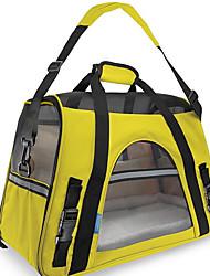 Gato Cachorro Tranportadoras e Malas Animais de Estimação Transportadores Portátil Respirável Dobrável Sólido Estampa ColoridaAmarelo