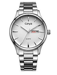 Couple's Dress Watch Fashion Watch Quartz Calendar Water Resistant / Water Proof Alloy Band Silver
