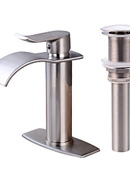 Centerset Waterfall One Hole Bathroom Sink Faucet